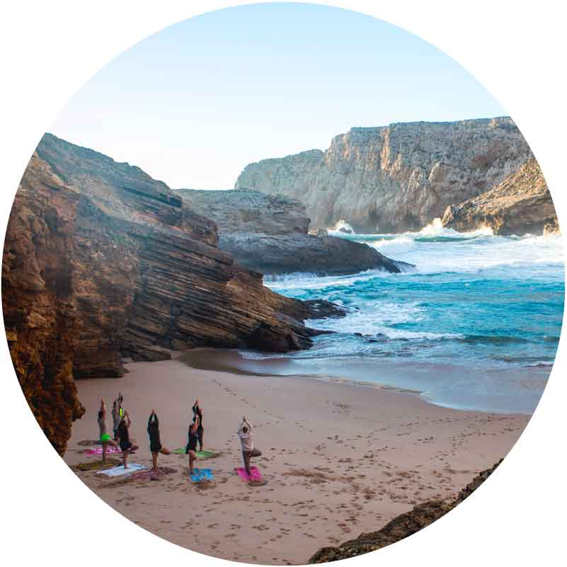 surf camp in Portugal yoga