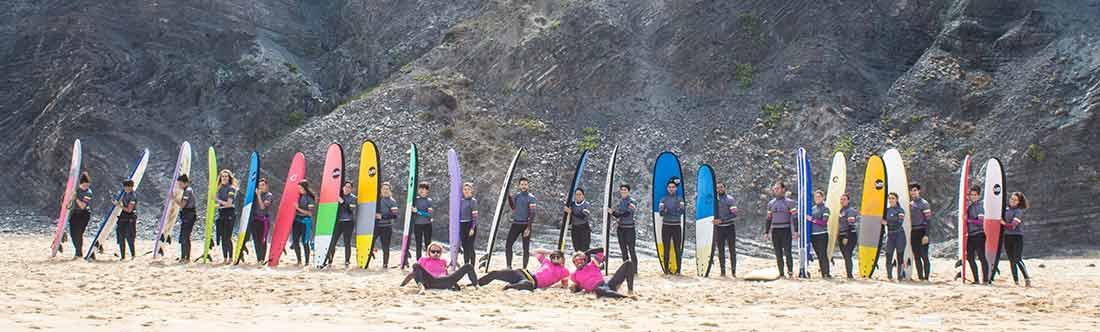 las mejores calas del Algarve wavy surf camp