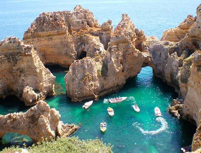 las mejores calas del Algarve ponta da piedade