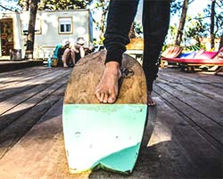 indo board wavy surf camp