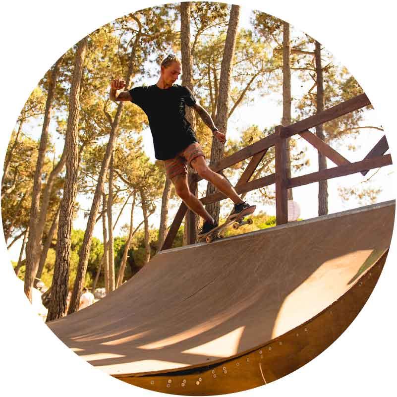 surf camp in Portugal skate