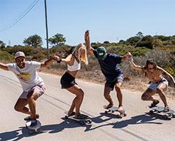 surf skate wavy surf camp portugal